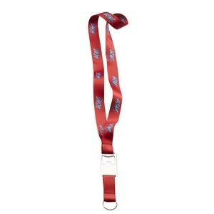 "3/4"" Imported Dye-Sublimated Lanyard with Bottle Opener, Split-Ring & Accessory Loop"