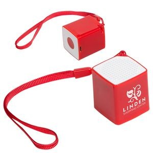 Wireless Mini Cube Speaker with Selfie Button & Mic